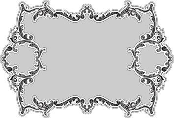 The decor ornate luxury swirl frame