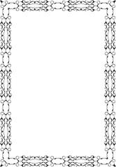 The ornate decor luxury frame