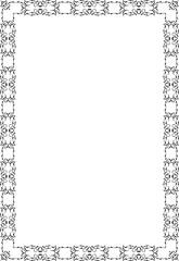 The ornate frame