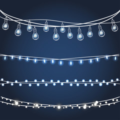 Set of Christmas garlands