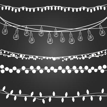 Set of festive garlands