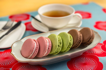 tea time assorted french macaroons