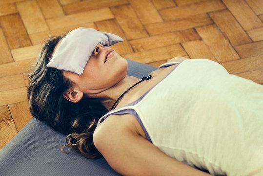 Yoga Savasana position