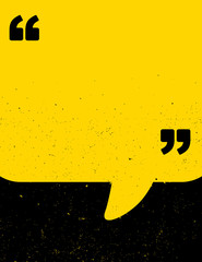 Black and yellow grunge quote poster - fototapety na wymiar