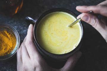 Golden Milk - Mixed honey, turmeric, ginger, cardamom, and cinna