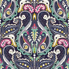 Fotobehang Boho Stijl Seamless Paisley background, floral pattern. Ornament