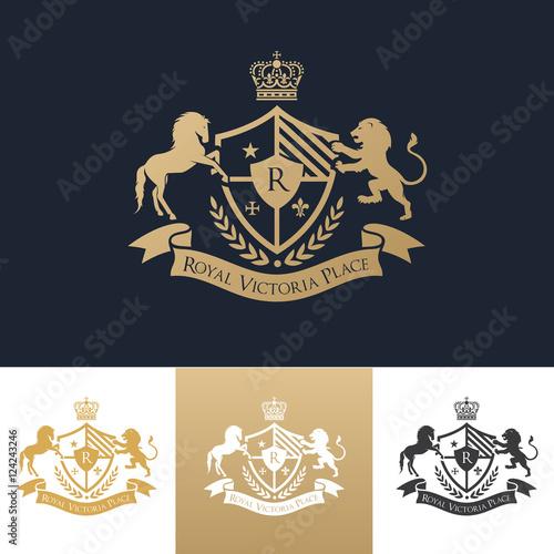 king place logo royal brand logo crown logo lion logo crest logo