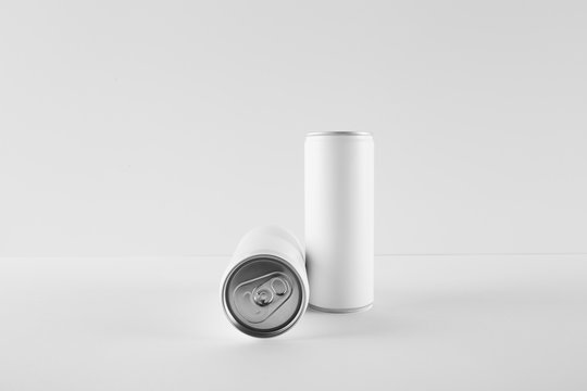 Blank Mock-up Cans on white background