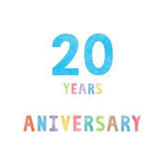 20 years anniversary celebration card