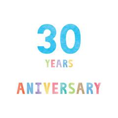 30 years anniversary celebration card