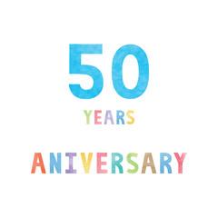 50 years anniversary celebration card