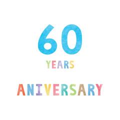 60 years anniversary celebration card