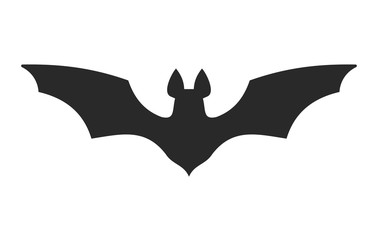 Halloween Bat Icon on White Background. Vector