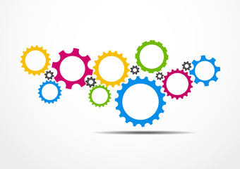 Gears teamwork design. Vector Illustration