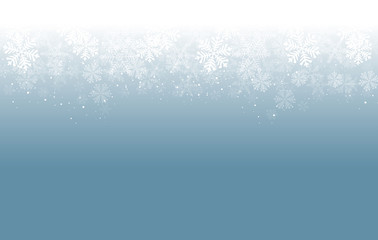 blue background snowflakes