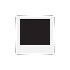 Retro photo frame on a white background. Vector illustration