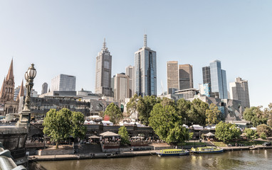 Melbourne city, one of the most liveable city in the world in Vi