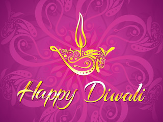 abstract artistic diwali purple background