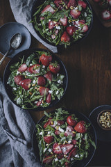 Strawberry , Spinach, and Arugula Salad