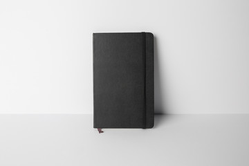 Notebook Mock-up with elastic band closure