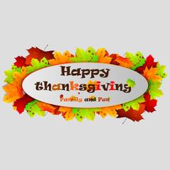Happy Thanksgiving banner.