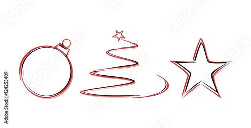 weihnachten zeichnung symbole stockfotos und lizenzfreie vektoren auf bild 124253409. Black Bedroom Furniture Sets. Home Design Ideas