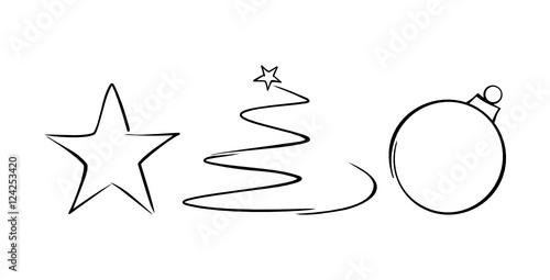 weihnachten zeichnung symbole stockfotos und lizenzfreie. Black Bedroom Furniture Sets. Home Design Ideas