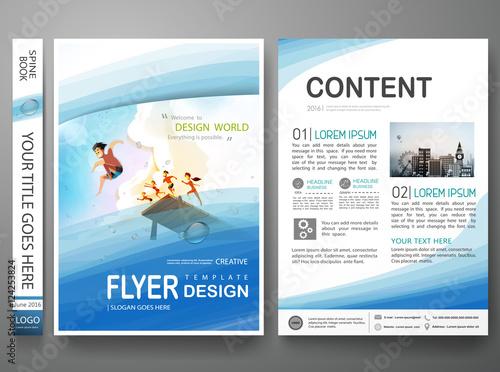 Brochure Design Template VectorTravel Flyers Report Business Magazine Poster Layout Portfolio TemplateBlue
