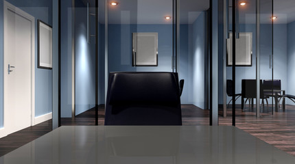 Meeting room. Office building in a new residential area. 3d rend