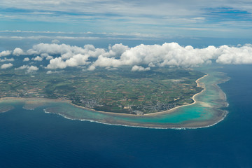 Aerial View of Ishigaki Island (石垣島 航空写真)