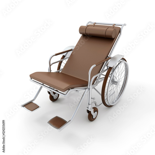 Brown chaise longue wheelchair stock photo and royalty for Brown chaise longue