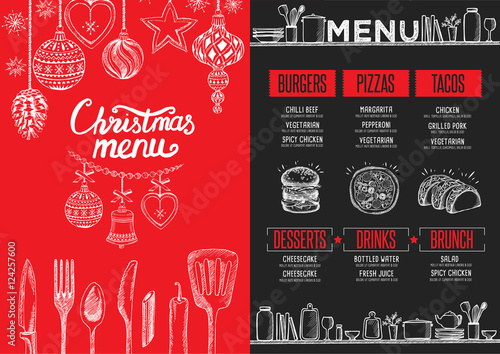 christmas party invitation food menu restaurant stock image and royalty free vector files on fotoliacom pic 124029452
