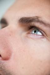 Man wearing contact lens