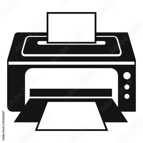 """Printer icon. Simple illustration of printer vector icon ..."