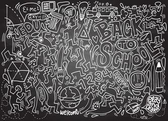 Back to school themed doodle background,School doodles, vector s