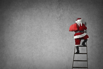 Santa Claus on the stairs