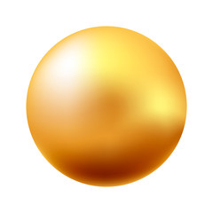 Vector illustration of gold ball