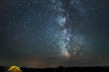 Sage Creek Milkyway Stars in Badlands National Park, South Dakota