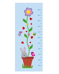meter wall. Flower and animals