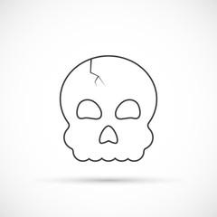 Halloween skull outline icon
