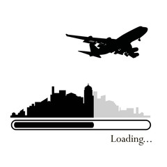 Loading vector, Plane over the city