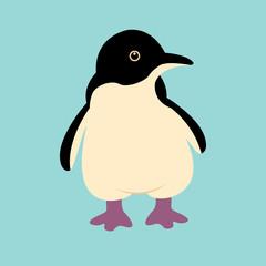 Penguin cartoon  vector illustration isolated Flat Style