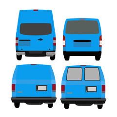 自動車バックスタイル01-blue