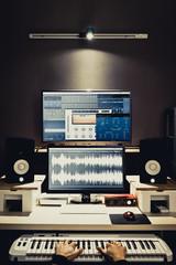 composer, digital recording studio production background