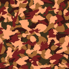 War camouflage seamless vector pattern