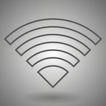 Wifi icon. Wireless wi-fi network sign. Internet symbol. Linear outline icon. Vector