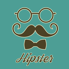 Vintage Hipster Gentleman Poster Card Stock Vector Illustration -