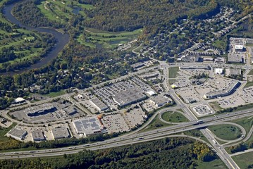 aerial view of the Kitchener Waterloo region in Ontario Canada