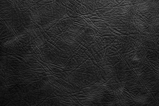 Texture of black leather in high resolution for text and render