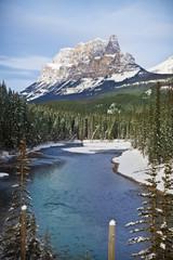 Castle mountain in banff national park;Alberta canada